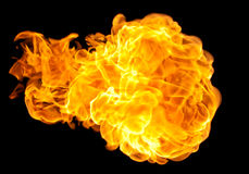 Flying fire ball Stock Photography