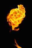 Flying fire ball. royalty free stock image