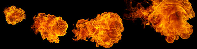 Flying fire balls. royalty free stock photo