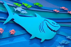 Flying Fish. Colorful aquatic life cut-outs Royalty Free Stock Images