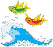 Flying fish. Vector clip-art / children's illustration for your design Royalty Free Stock Photos