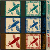 Flying fish matchbox Royalty Free Stock Images