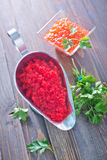 Flying fish roe Stock Image