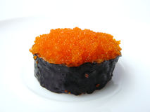 Flying fish roe seaweed sushi roll Stock Photo