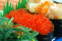 Flying fish roe sushi Royalty Free Stock Photos