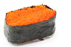 Flying fish roll gunkan sushi Stock Photography