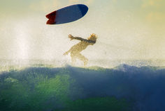 Surfer wipeout Stock Photography
