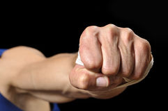 Flying fist Stock Image