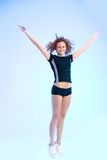 Flying fitness queen Royalty Free Stock Photos