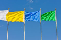 Flying flag Stock Photography