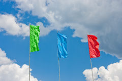 Flying flag Stock Image