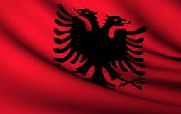 Flying Flag of Albania Royalty Free Stock Photography