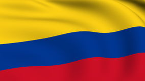 Flying Flag of Colombia | LOOPED stock video