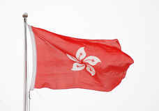 The  flying flag Hong Kong Royalty Free Stock Photo