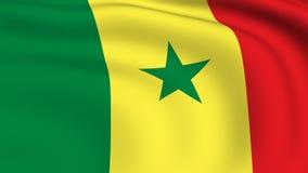 Flying Flag of SENEGAL | LOOPED stock video