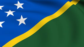 Flying Flag of SOLOMON ISLANDS | LOOPED stock footage