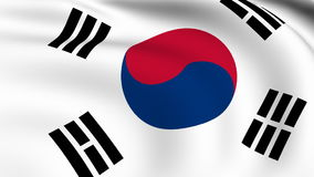 Flying Flag of SOUTH KOREA | LOOPED stock video