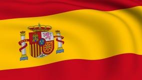 Flying Flag of SPAIN | LOOPED stock video footage