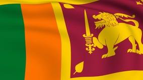Flying Flag of SRI LANKA | LOOPED stock video footage