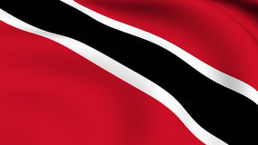 Flying Flag of TRINIDAD AND TOBAGO | LOOPED stock footage