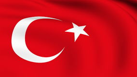Flying Flag of TURKEY | LOOPED. | stock video