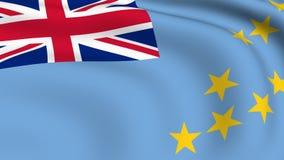 Flying Flag of TUVALU | LOOPED. | stock video footage