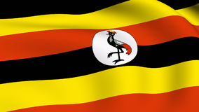 Flying Flag of UGANDA | LOOPED stock footage