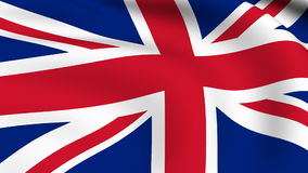 Flying Flag of UNITED KINGDOM | LOOPED. | stock video footage