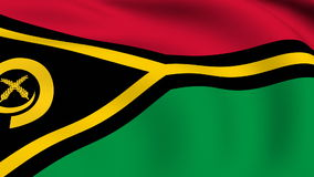 Flying Flag of VANUATU   LOOPED stock video