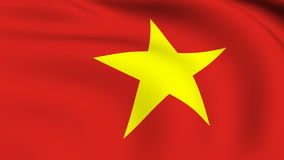 Flying Flag of VIETNAM   LOOPED stock footage