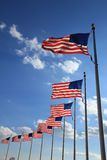 Flying flags Royalty Free Stock Photos