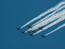 Flying In Formation Royalty Free Stock Photo