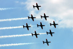 Flying formation Stock Photo