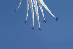 Flying formation Royalty Free Stock Photography