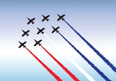 Flying in formation. Illustration of jets flying in formation. Available as either vector or .jpg Stock Image