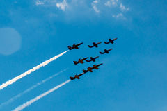 Flying In Formation at airshow Stock Image
