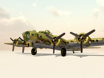The Flying Fortress of World War II Stock Images