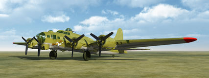 The Flying Fortress of World War II Royalty Free Stock Photos