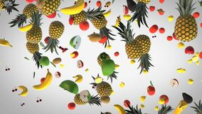 Flying Fresh food background stock video