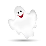 Flying ghost. On a white background Royalty Free Stock Photos