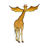 Flying giraffe Stock Images