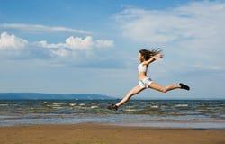 Flying girl Stock Image