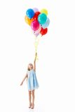 Flying girl Royalty Free Stock Images