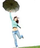 Flying Girl Royalty Free Stock Photos
