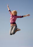 Flying  girl Royalty Free Stock Photography