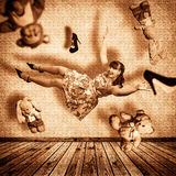 Flying girl. Royalty Free Stock Images
