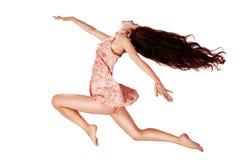 Flying girl isolated Stock Photos