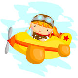 Flying Girl Stock Photo