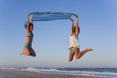 Flying girls Stock Photo