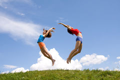 Flying girls Stock Photo